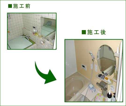 N様邸浴室 ビフォーアフター