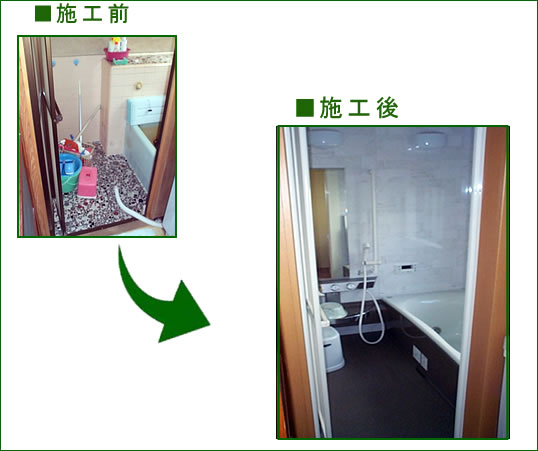 A様邸浴室 ビフォーアフター