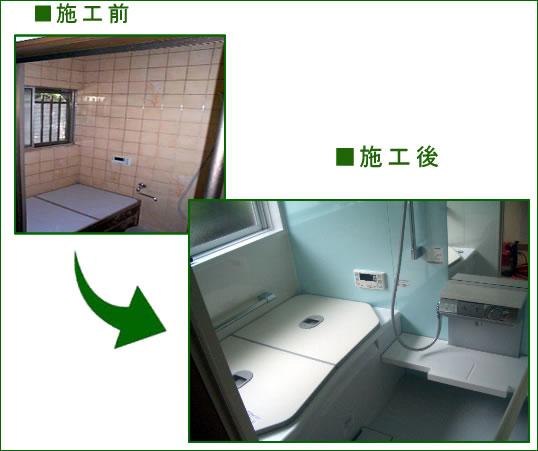 S様邸浴室 ビフォーアフター