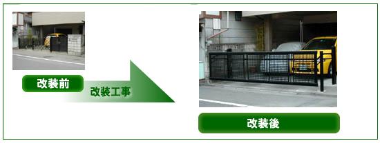 A様邸電動式ガレージ扉 ビフォーアフター